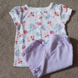 Baby girl outfit shirt and pant size 3-6 months